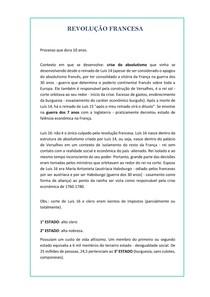 REVOLUÇÃO FRANCESA (história geral) RESUMO - ensino médio/vest/enem