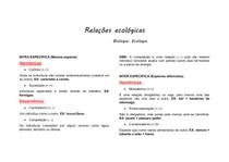 RESUMO -Relações ecológicas