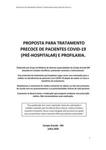 protocolo covid - campo grande ms 2020
