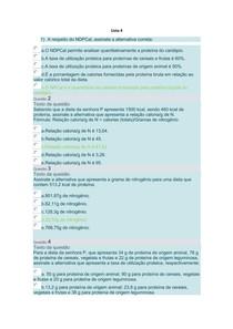 Planejamento Nutricional - Atividade 4 UNINGÁ