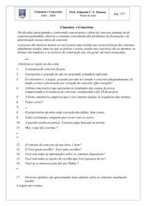 Material para estudo - CIMENTOS E CONCRETOS