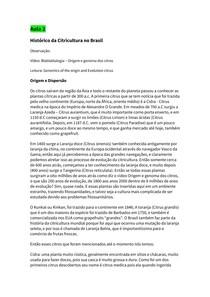 Resumo Aula 2 Citricultura ( Citricultura brasileira e classificação botânica)