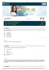 teste de conhecimento 2 Bioquímica