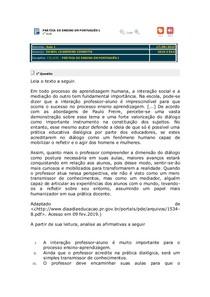 Avaliando Aprendizado - Aula 1 - Prática de Ensino e Estágio Sup Português I