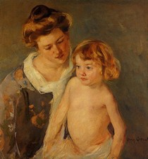Mary Cassat - jules_standing_by_his_mother