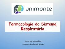 Aula 8 - Farmacologia do sistema respiratório