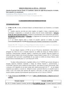 DIREITO PROCESSUAL PENAL – PONTO 09