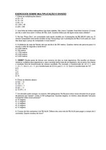 EXERCICIOS_SOBRE_MULTIPLICACAO_E_DIVISAO