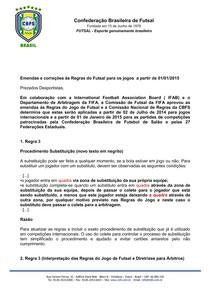 019b9f7cd8e24 emendas e correcoes as regras do futsal - Futsal