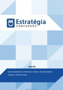 Aula 5 - Estratégia Concursos  (Técnico Judiciário TJRO)