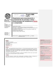 Projeto NBR 13279resistencia