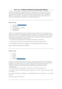 Av1 - Lic - Políticas Públicas da Educação Básica