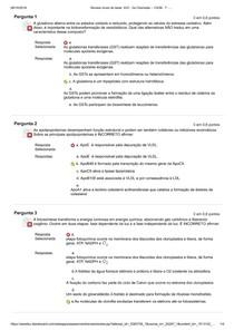 Bioquímica Aplicada AV2 - (Segunda chamada)