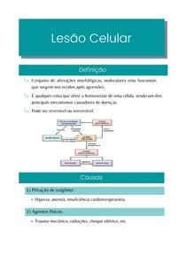 Resumo: Lesão Celular - Patologia