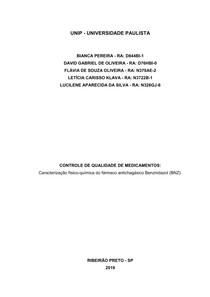 APS - CONTROLE DE QUALIDADE DE MEDICAMENTOS