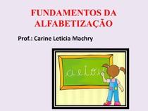 METODOS DE ALFABETIZAÇÃO
