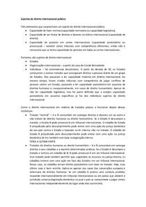 Sujeitos de direito internacional público(Aula Otavio)
