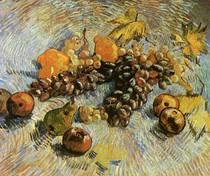 Vincent Willem van Gogh-ainda-vida-com-maçãs-peras-limões-e-Grapes