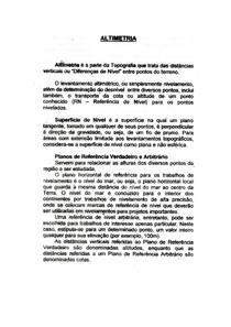 ALTIMETRIA - Pro. Cesar