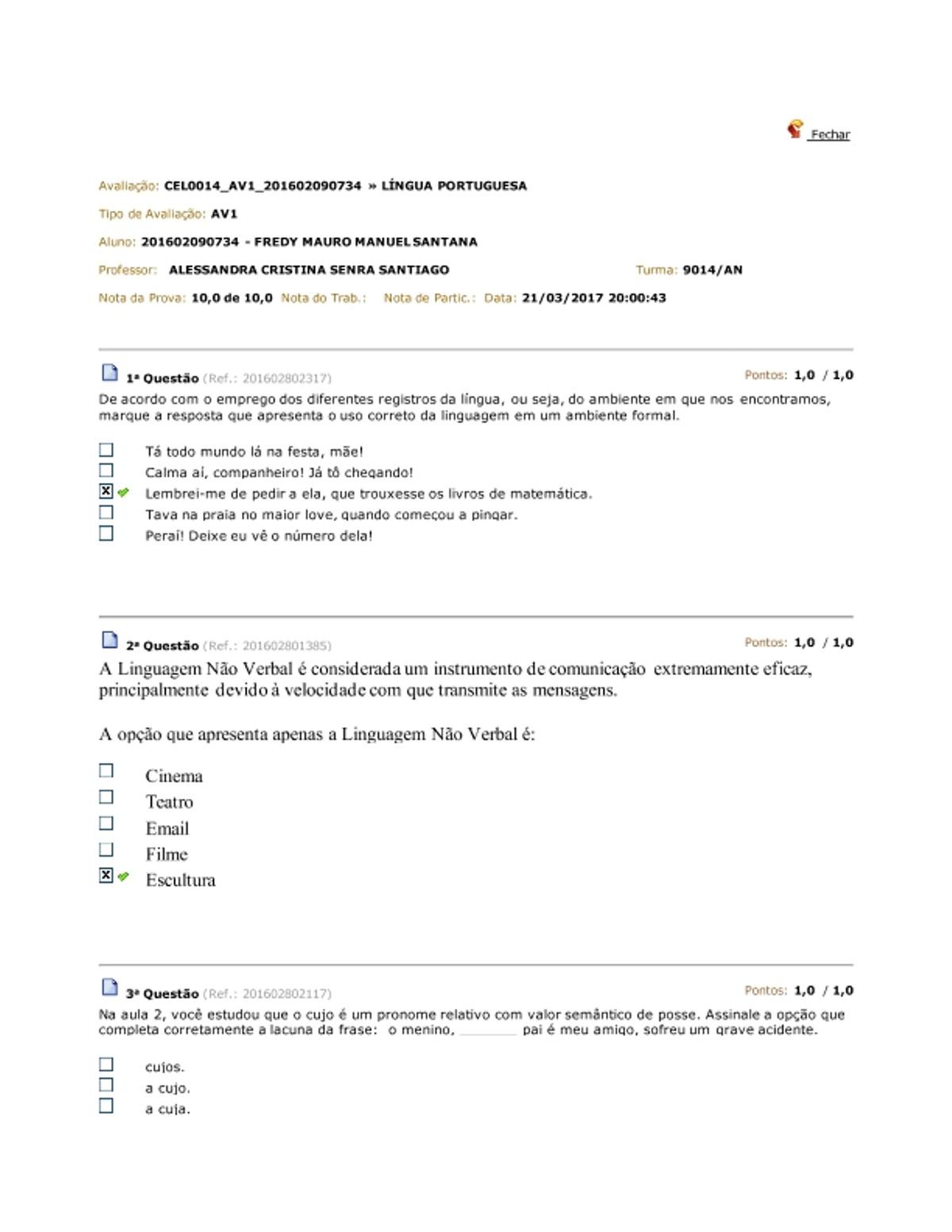 Pre-visualização do material av1 portugues - página 1