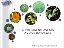 Aula 01 - A Evolução no Uso das Plantas Medicinais