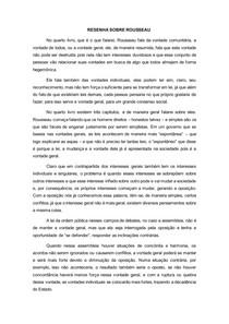 O contrato social de Rousseau RESUMO