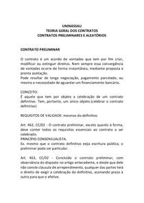 Contrato Preliminar Direito Civil Iii