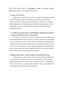 Questões respondidas sobre metodologia científica