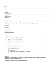 ENGENHARIA DE SOFTWARE APOL 01 COM GABARITO OFICIAL