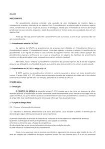 PROCESSO CIVIL II   PROCEDIMENTOS NO NCPC