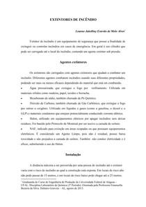 Relatório Laboratório de Química - Extintores - Laboratório I 78b044e7a5