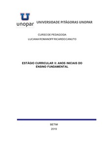 ESTAGIO DE LUCIANA