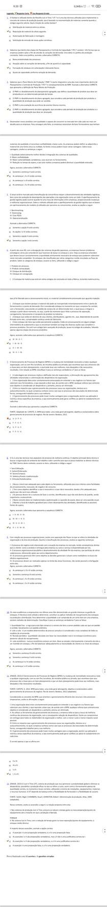 avaliação (objetiva) logística de produção de serviço