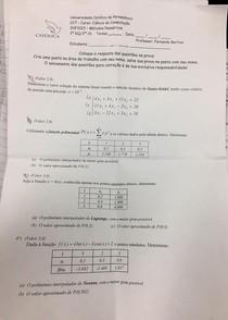 Prova 2ºGQ -  Fernando Bertino - Cálculo Numérico Computacional -(CNC) - INF1033 - Unicap