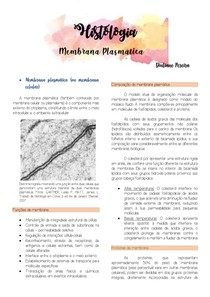 Histologia- Membrana plasmática
