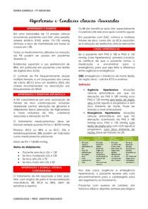 HIPERTENSÃO E CONDIÇÕES CLÍNICAS ASSOCIADAS