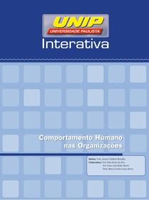 Apostila    Comportamento Humano nas Organizacoes (80hs) Unidade I(1)