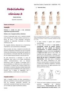Exame clínico - tórax - sistema respiratório - 1