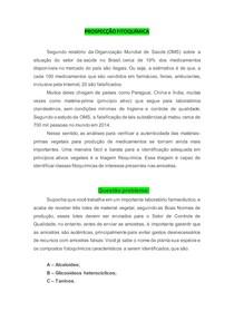 Prospecção fitoquimica - exercício resolvido