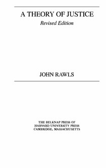 RAWLS J A Theory Of Justice