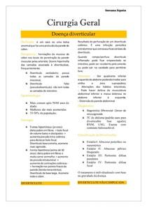 Cirurgia Geral- Doença Diverticular