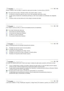 avaliando aprendizado 3  PENAL II ESTACIO