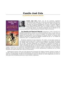 Cela La Familia De Pascual Duarte Pdf Literatura Espanhola
