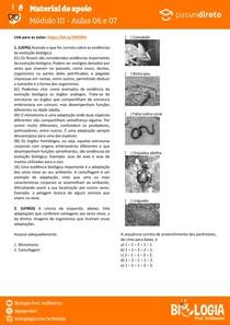 Módulo 3 - aula 6 e 7 - Especiação e Evidências da evolução