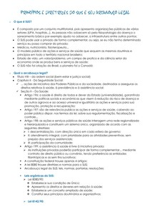 PRINCÍPIOS E DIRETRIZES DO SUS E SEU ARCABOUÇO LEGAL