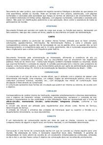 Tipos de documentos oficiais