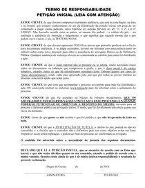 TERMO DE RESPONSABILIDADE COM TUTELA com advertência - Duque de Caxias