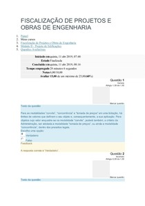 FISCALIZAÇÃO DE PROJETOS E OBRAS DE ENGENHARIA