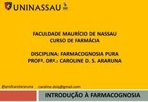 Farmacognosia   introdução