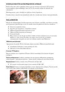 INFECÇÕES FÚNGICAS NA PELE DE PEQUENOS ANIMAIS
